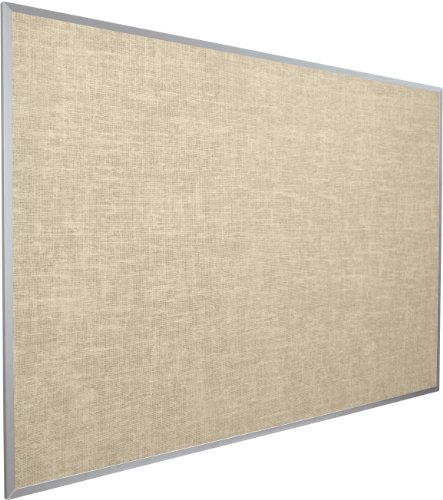 BestRite 4 x 6 Feet Vin-Tak Tackboard Aluminum Trim, Cotton (311AG-46) by Best-Rite