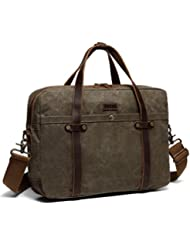 Briefcase for Men,Vaschy Water Resistant Messenger Bag fits 15.6in Laptop