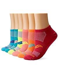 Saucony womens 6-pack Performance Super Lite No-show Athletic Running Socks Socks
