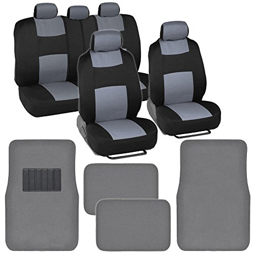white and black car floor mats - 5