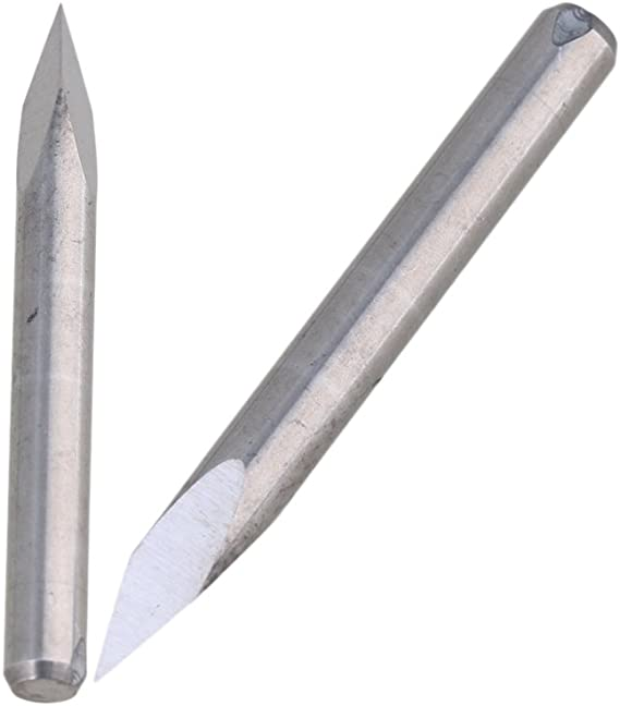 10pcs Pyramid 30 Degree 0.1mm Carbide Engraving Bits CNC Router Tool For CNC