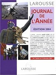 Journal de l'année 2003 : Du 1er janvier au 31 décembre 2003