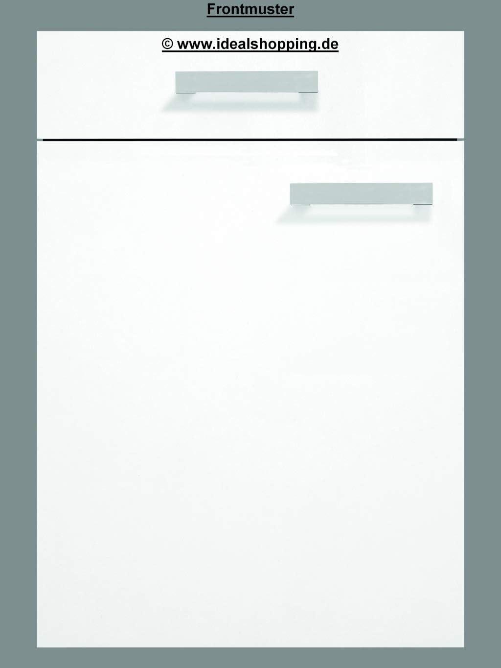 idealShopping GmbH K/üchen Sp/ülenunterschrank mit Arbeitsplatte ohne Einbausp/üle Genf SAPLO106-9 in wei/ß 100 cm