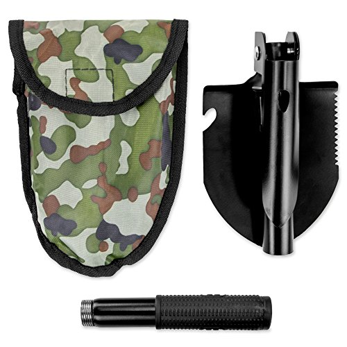 """Tactical Steel Multi function Survival Shovel and Pick Axe, Collapses Down to Just 6.5"""" by Grizzly Peak"""