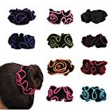 10 Pack Satin Hair Scrunchies Lace Flower Hair Ties Floral Headbands Ponytail Holder Floral Hair Bobbles Velvet Scrunchy for Women