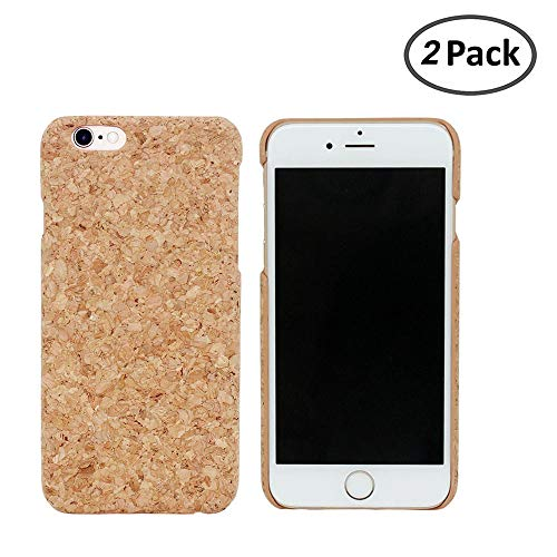 - boshiho 2 Pcs Phone Case, ECO-Friendly Natural Cork Designed Ultra Thin Hard Case Cover for iPhone 6 6S, Handmade Slim Bumper Case for iPhone 6 6S (4.7 inch)