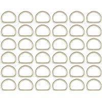 Mad - Gelaste D-ringen - 10, 12, 14, 16, 18, 20, 22, 24, 26, 28, 30, 35, 40, 50mm - Vernikkeld staal - Zilver - Verpakt…