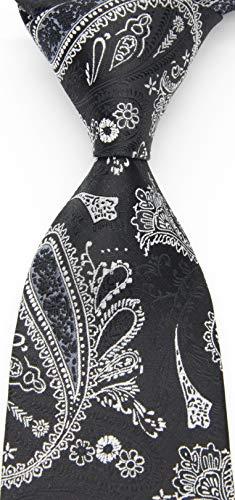 Geotae Zerun New Classic Men's Paisley Silk Tie Necktie