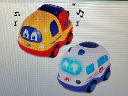 City Racers Lights & Sounds Push 'N' Go Ambulance & Tow
