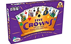 Five Crowns is a five-suited rummy-style card game. This award-winning, classic game is a quick favorite for both avid and casual card players. Five Crowns features a unique double deck that contains 5 suits: spades, clubs, hearts, diamonds, ...