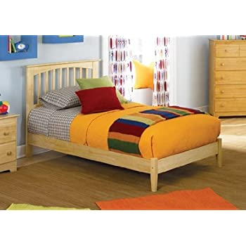 this item atlantic furniture brooklyn platform bed with open footrail in natural maple twin