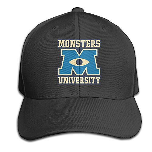 Monsters University Hat (GYB HOME Unisex Adult Monsters University Logo Solid Caps/Snapback Hats/Baseball Caps/Caps/Hats)