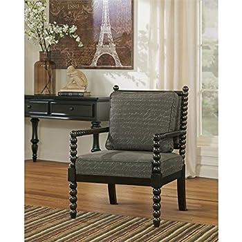 Ashley Furniture Signature Design   Milari Accent Chair   Hand Written  Scrolling   Soft Linen Upholstery