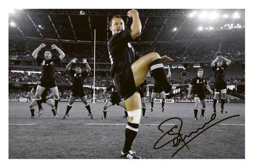 Carlos Spencer - New Zealand All Blacks Signed Autographed 21cm x 29.7cm A4 Photo Poster ES