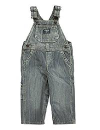 OshKosh B'gosh Baby Boys' Denim Overalls (9 Months, Hickory Stripe)