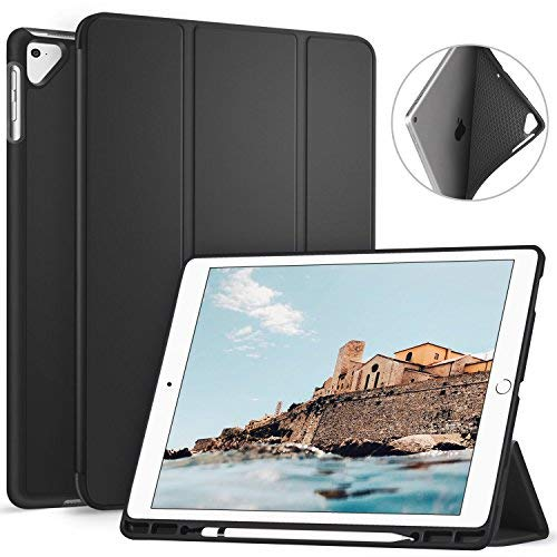 Ztotop Case for iPad Pro 12.9 Inch 2017/2015 with Pencil Holder- Lightweight Soft TPU Back Cover and Trifold Stand with Auto Sleep/Wake,Protective for iPad Pro 12.9 Inch(1st & 2nd - Leather I-tec