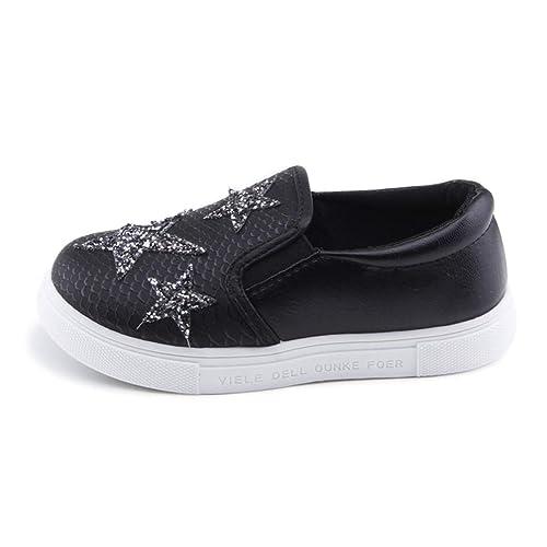 Zapatos para niños Zapatillas de Deporte de Moda Slip-on para niños Chicas Zapatillas de Deporte para niños Zapatos de Estrellas de Diamantes de imitación: ...