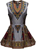 Shenbolen Women African Print Shirt Dashiki Traditional Top(A,Medium)