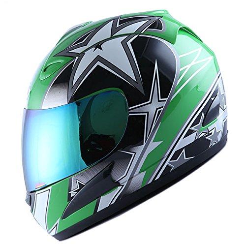 WOW Motorcycle Full Face Helmet Street Bike Racing Star ()