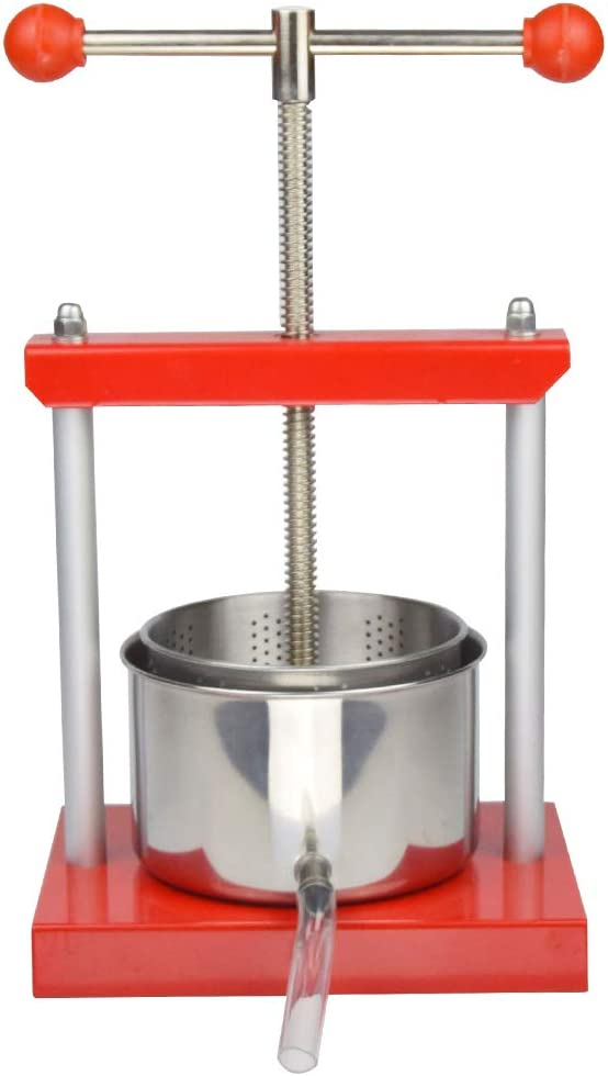 0.53 Gal Fruit Wine Press - 100% Natural Juice Making für Apple/Carrot/Orange/Berry/Vegetables,Food-Grade Stainless Steel Cheese&Tincture&Herbal Press