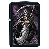 Anne Stokes Black Matte Zippo Outdoor Indoor Windproof Lighter Free Custom Personalized Engraved Message Permanent Lifetime Engraving on Backside
