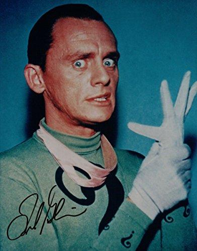 Frank Gorshin Signed Autographed 8X10 Photo Batman The Riddler Gloves w/ JSA (Photo Framed Signed 8x10)