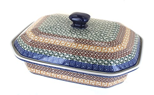 Polish Pottery Athena Large Covered Baking Dish