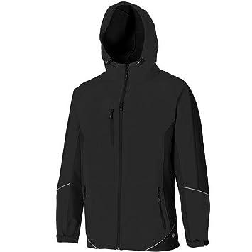 JW7010 Dickies zweifarbige Softshell Jacke schwarz BK M