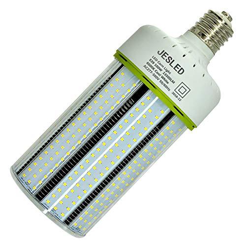 400w Cool - JESLED 480v LED Corn Bulb - 100W Cob Light, E39 Mogul Base, 6000K Cool White, 13500LM, 400 Watt Equivalent, CFL HID HPS MH Replacement for Factory Warehouse Workshop Bay Lighting, AC277-500V Input