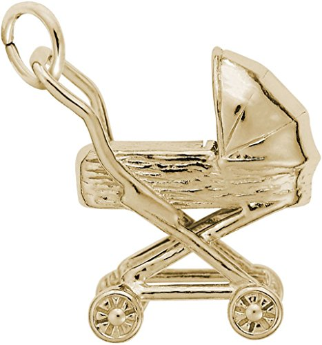 Rembrandt Traditional Baby Carriage Charm - Metal - 14K Yellow Gold