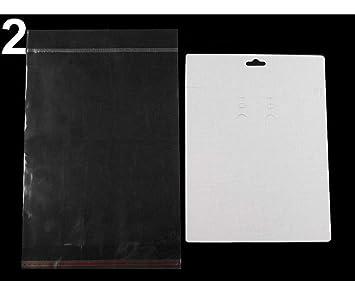 10set 2 White Euro Slot Jewelry Display Hang Card With Sachet