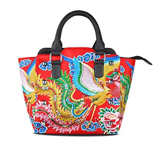 DragonSwordlinsu Piel Otra al mujer para Bolso hombro multicolor de Medium r1nrXUx6q
