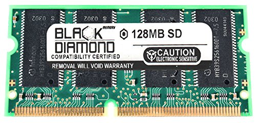 128 Mb Pc100 Module - 128MB Black Diamond Memory Module for HP Pavilion Notebooks Xh355 SDRAM SO-DIMM 144pin PC100 100MHz Upgrade