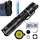Bundle: Nitecore P12GT 1000 Lumens CREE XP-L HI V3 LED Tactical Flashlight Handheld Searchlight by E35 3500mAh EASTSHINE 18650 Protected Batteries EB182 Battery Case