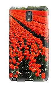 Premium Galaxy Note 3 Case - Protective Skin - High Quality For Red Flowers