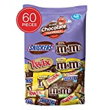 SNICKERS, M&M'S & TWIX Fun Size Chocolate Candy Variety Mix, 33.9-Ounce 60 Piece Bag