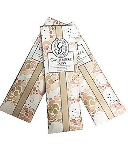 GREENLEAF Fragrant Slim Sachet Scented Envelopes Drawer Liners, Room and Car Freshener Set of 3 (Cashmere -