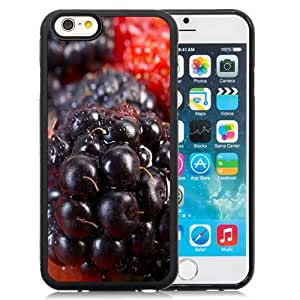 Fashion Custom Designed Cover Case For iPhone 6 4.7 Inch TPU Phone Case With Berries Closeup_Black Phone Case