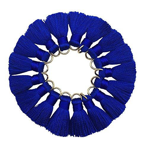 CHENGRUI 2CM Mini Tassels For Jewelry Making,Diy,Jewelry Accessories,Pack of 10 Pcs(Royal Blue)