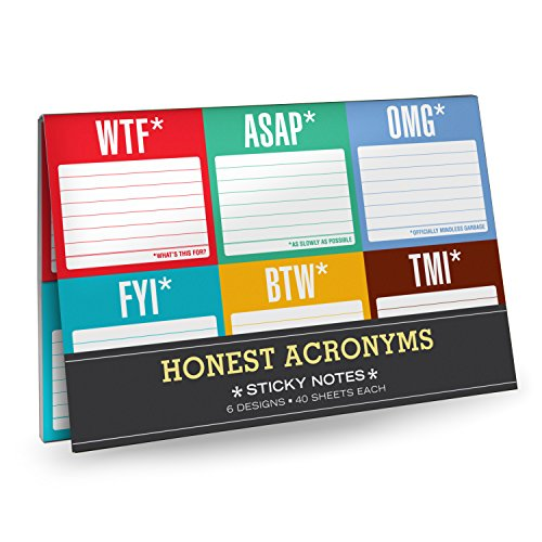 Sticky Notes Packet, Honest Acronyms