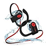 Bluetooth Headphones IPX8 Waterproof Wireless Earbuds for Running,Voberry Noise Cancelling In-Ear Headphones With Mic sweatproof Headphones Wireless Earbuds.