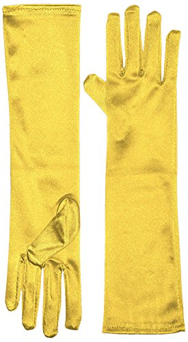 [Marvoll Lycra Spandex Elbow Length Gloves (One Size, Yellow)] (Yellow Morphsuit)
