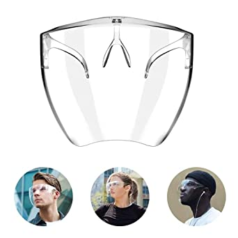 Anti Droplet Dust-Proof Protect Covering Visor Shield Face Cover,Safety Kitchen Cooking Anti-Oil Splash Clear Face Cover Mask Protector Kitchen Accessories Full Face Mask M