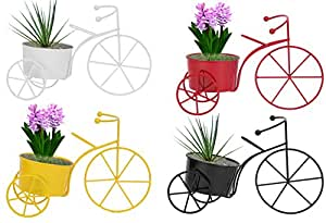 Nuha Cycle Style Stand Planter, for Home Decor- Set of 4