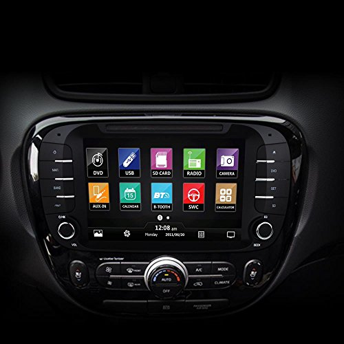 2014 kia soul double din replacement touchscreen car. Black Bedroom Furniture Sets. Home Design Ideas