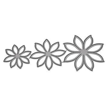 Sunlera Flor del Narciso de Bricolaje para la embutición Plantillas Tarjetas de Corte Tarjeta de cumpleaños