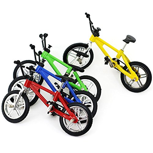 4 Pack Finger Mountain Bike Excellent Functional Miniature Metal Toys Mini Extreme Sports Finger Bicycle Cool Boy Toy Creative Game Toy Set Collections by Yexpress (Image #4)