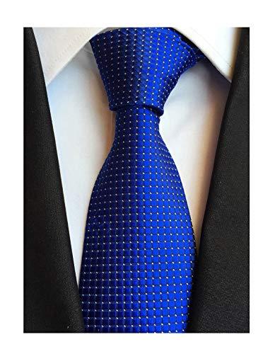 Secdtie Mens Royal Blue Silk Cravat Ties Woven Dance Formal Neckties Gift Ideal