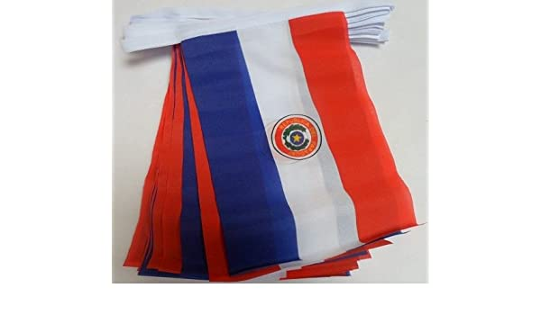 9 metros 30 bandera Paraguay paraguayo material banderines: Amazon.es: Hogar