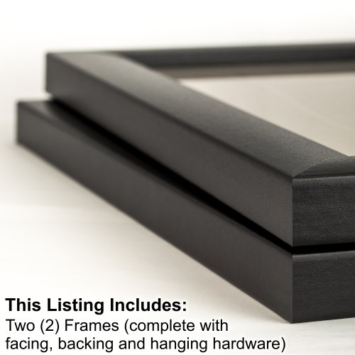 Craig Frames 1WB3BK 20 by 30-Inch Picture Frame 2-Piece Set, Smooth Finish, 1-Inch Wide, Black